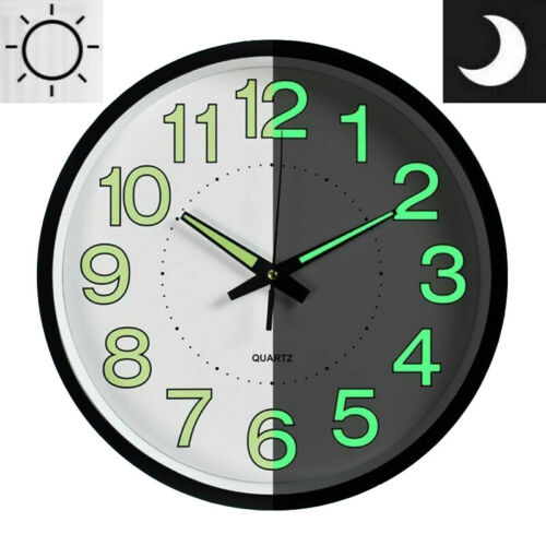 Buy 12 Wall Clock Led Energy Night Dark Luminous Glow Modern Quartz Bedroom Watch Online In Kuwait 233424221117