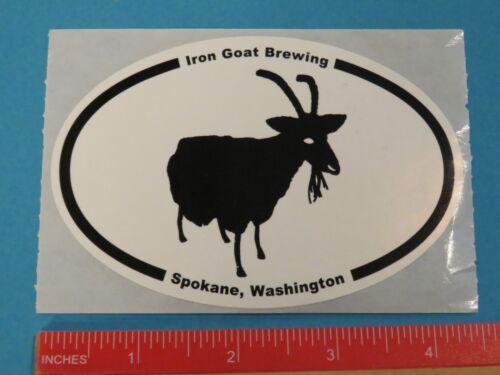 Beer Collectible STICKER ~ IRON GOAT Brewing ~ Spokane WASHINGTON Breweriana