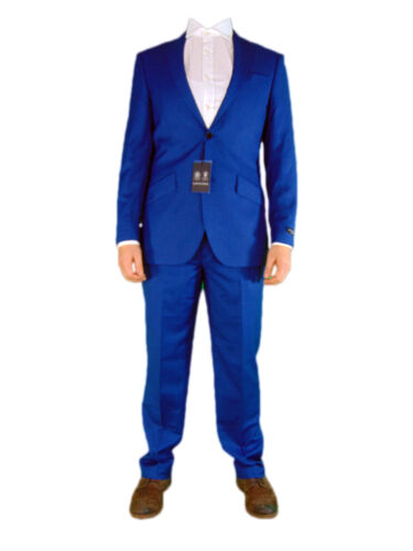 Buy Austin Reed Mens Blue Sharkskin 2 Two Piece Office Suit Jacket And Trousers New Online In Kuwait 252495753298