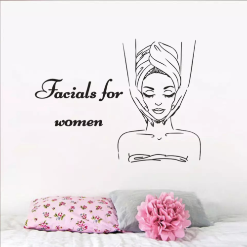 Skin Care Wall Sticker Facials For Women Wall Decal Beauty Salon Wallpaper Decal Buy Products Online With Ubuy Kuwait In Affordable Prices 223238399010