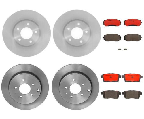 Rear 302 mm Brake Rotors And Ceramic Pads For 2007-2010 Ford Edge Lincoln MKX