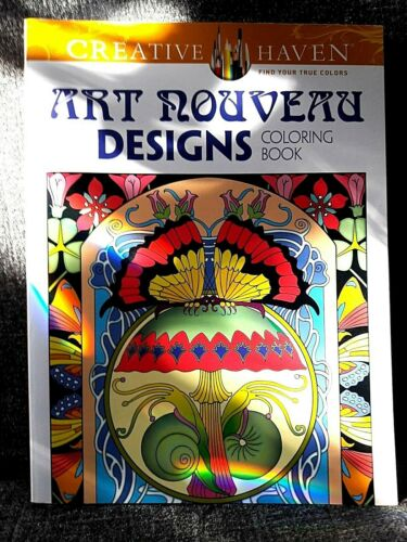 Buy Coloring Book Art Nouveau Designs Creative Haven Adult Coloring Book Online In Kuwait 163652817837