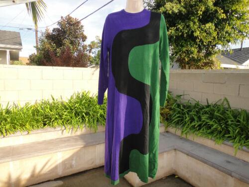 Uniqlo x Marimekko MERINO BLENDED DRESS Pk Sz Green Purple or Black Off White