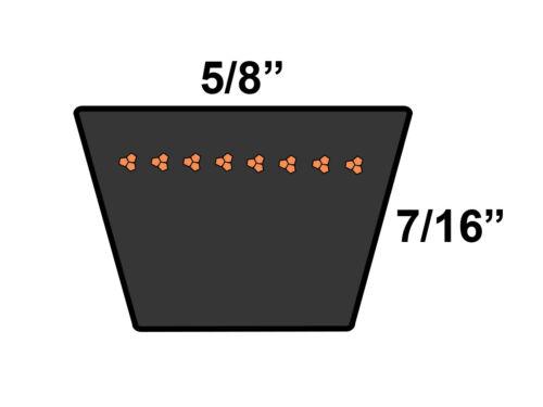D/&D PowerDrive B120 V Belt  5//8 x 123in  Vbelt