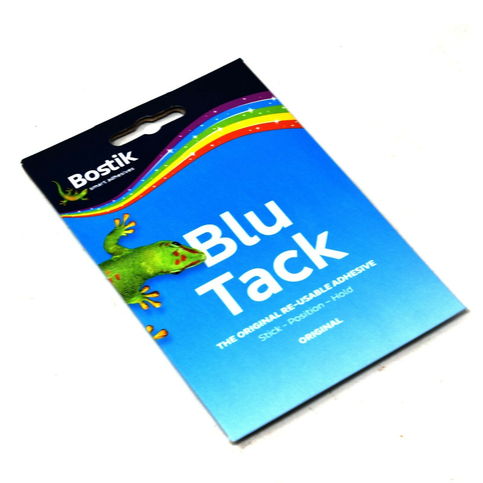 BOSTIK BLU TACK HANDY REUSABLE ORIGINAL BLUE STICKY ADHESIVE ECONOMY PACK