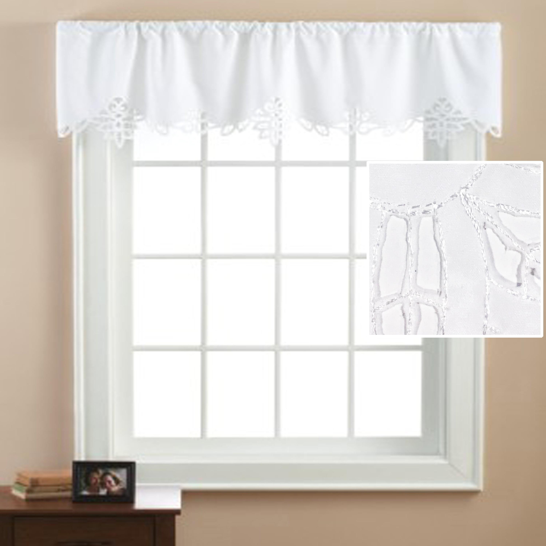 Buy Mainstays Battenburg White Lace Curtain Valance Online In Kuwait 45159830