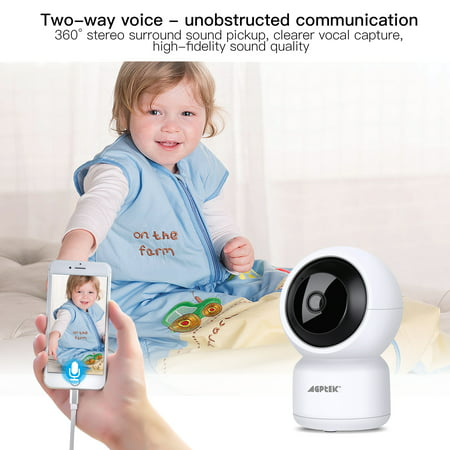 YI Cloud 1080P HD Wireless IP Security Camera IR-Cut 2-Way Audio Pan//Tilt//Zoom