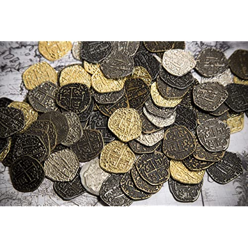 Buy Beverly Oaks Metal Pirate Coins - 100 Gold and Silver Spanish