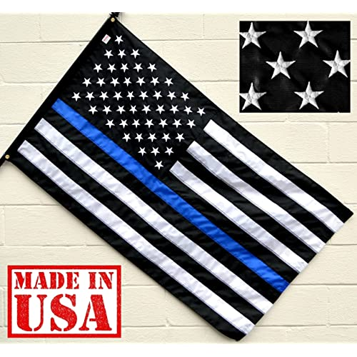 Thin Blue Line American Flag Blue Lives Matter Police Flag 3/' x 5/' Made In USA