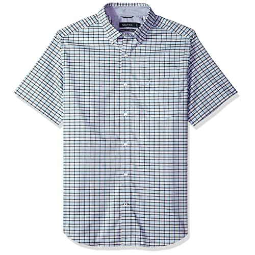 Nautica Mens Wrinkle-Resistant Stretch Button Up Shirt