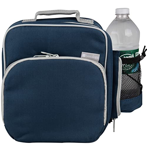 Insulated Durable Lunch Bag Reusable Meal Tote With Handle and Pockets