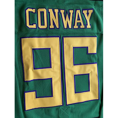 Stitched Letters and Numbers Bombay 66 The Mighty Ducks Jersey S-XXXL Green White 90S Hip Hop Clothing for Party