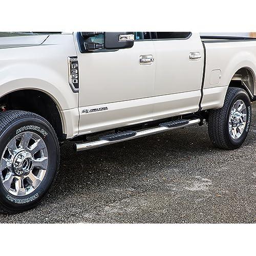 LUND 34641173 Black Steel Terrain HX Step Nerf Bars for 2015-2018 Chevrolet Silverado//GMC Sierra 2500HD//3500HD Extended Cab