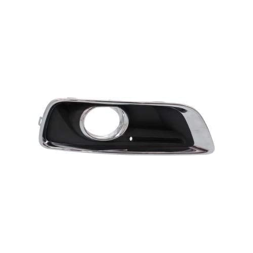 DAT AUTO PARTS Fog Light Bezel Replacement for 2013-2016 Chevrolet Malibu Left Driver Side Black and Chrome GM1038136
