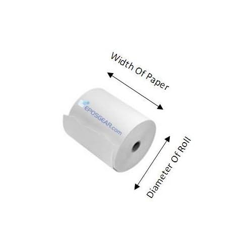 20 Rolls Chip /& Pin PDQ Credit Card Roll-X Branded 76 x 76 mm Thermal Till Rolls