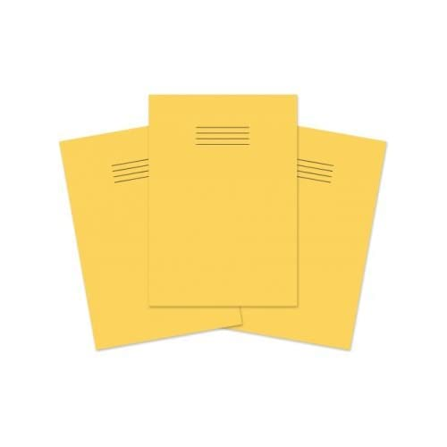 Yellow Pack of 10 Hamelin A4 8 mm 48 Pages Exercise Book