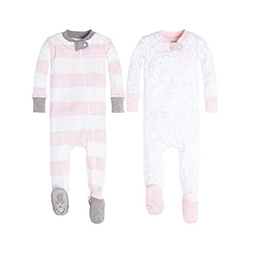 90a30d6123f2 Buy Burt's Bees Baby Girls' 2 Pack Non-Slip Footed Sleeper Pajamas with  Ubuy Kuwait. B07BC9Q13H
