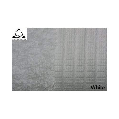 Pair of JUMBO WHITE Prestige Luxor Egyptian Cotton 650gsm Bath Sheets HUGE SIZE 180cm x 100cm