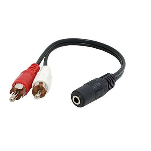 """6 inch RCA Female to 2 RCA Male Gold Plated Audio Adapter Y Splitter Cable 6/"""""""