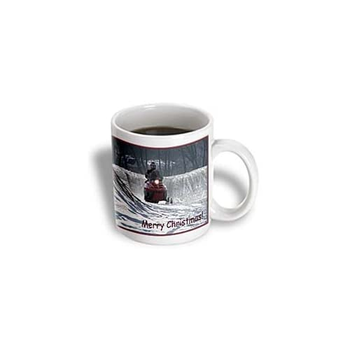 Buy 3drose Snowmobile Rider Merry Christmas Ceramic Mug 11 Ounce Online In Kuwait B005h2v4lu