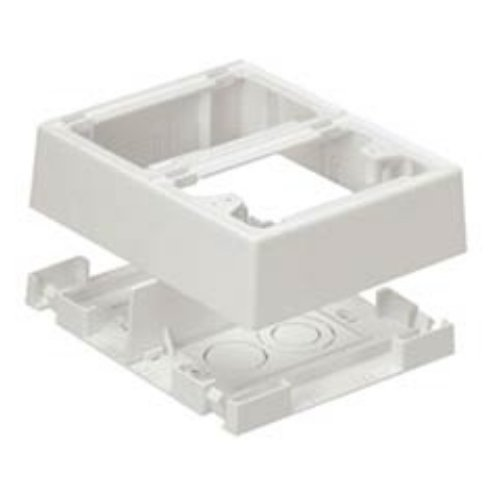 Panduit JBP2FSIG Double Gang Power Rated Two-Piece Outlet Box PVC 944859