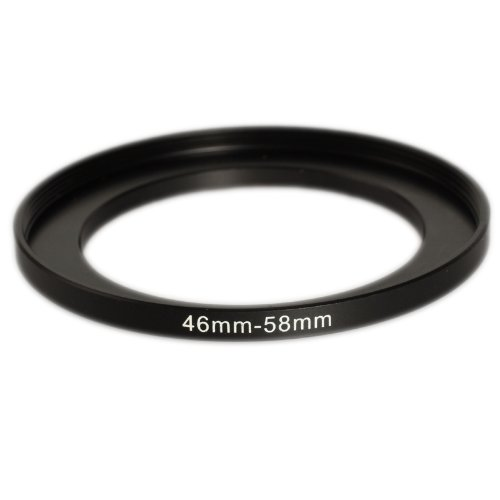 Made of CNC Machined Metal with Matte Black Electroplated Finish Ares Photography 46mm to 52mm Step-Up Lens Adapter Ring for Filters