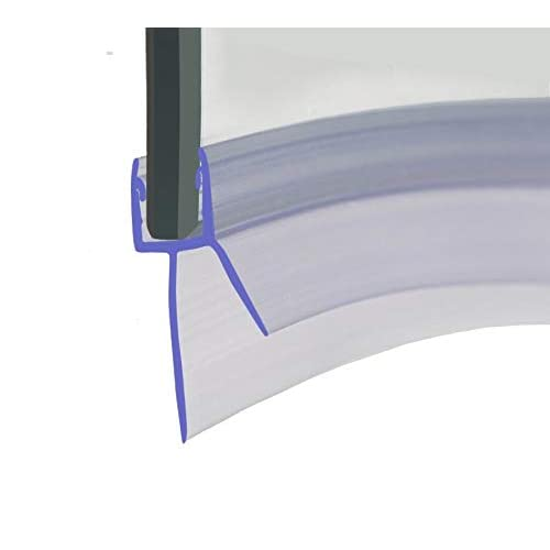 HNNHOME/® 870mm in Length Crystal Super-clear Bath Shower Screen Door Seal Strip For 8mm Glass Up To 8mm Gap