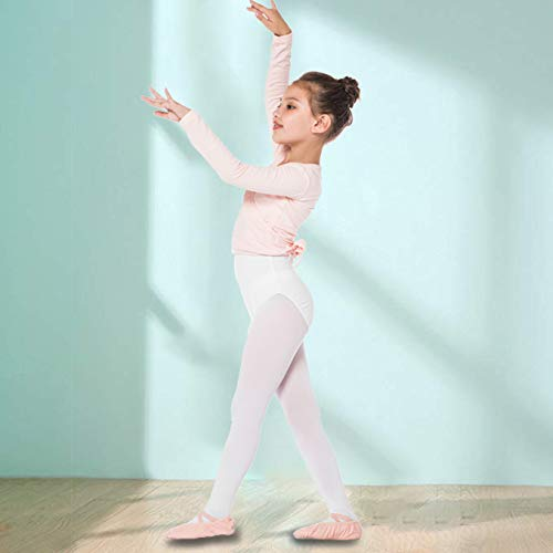 ranrann Girls Long Sleeves Cotton Wrap Top Front Knot Short Cardigan for Ballet Dance Gymnastic