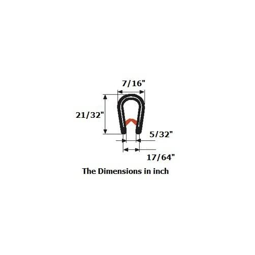 21//32 U Height x 3//64-5//32 grip range 10 FEET Edge Trim Brown/large U height
