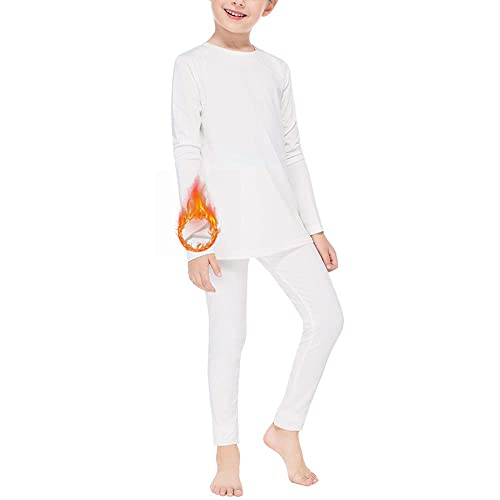 Subuteay Thermal Underwear for Boys Fleece Lined Long Johns Set Kids Base Layer Ultra Soft