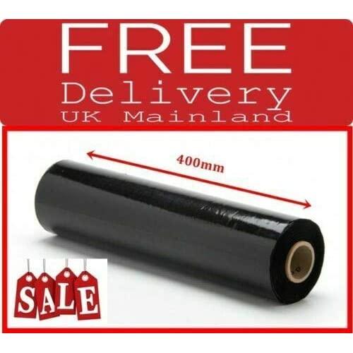Pack of 6 400 mm x 250 m Pallet Stretch Shrink Wrap Black pallet wrap shrink wrap cling stretch film