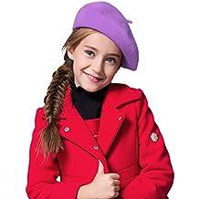 e714b7e40d53f Wool French Beret Cap for Girls Boys Classic Parisian Hat Artist Beret Tam  Winter Bailey Hat