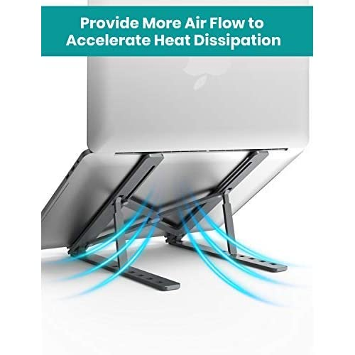 Portable Foldable Adjustable Laptop Stand Holder Universal Ergonomic Aluminium Alloy Travel Mini Notebook Stand