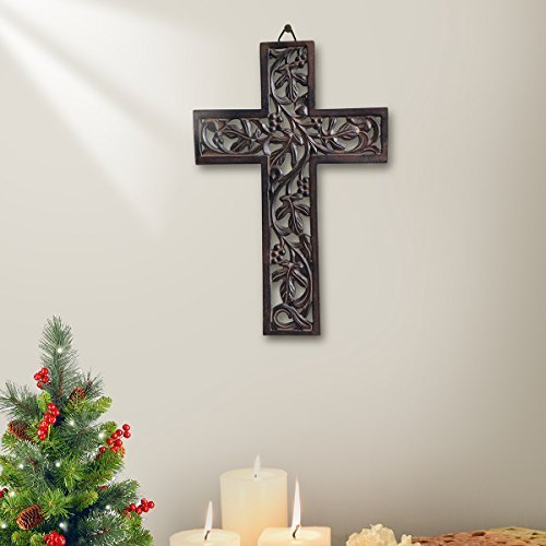 Buy Wooden Wall Hanging Cross Handmade Antique Design Religious Altar Home Living Room Décor Accessory Design 1 Online In Kuwait B07hd78ssc