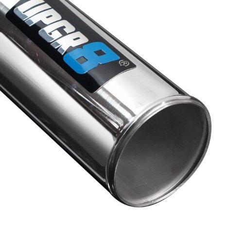 Upgr8 Universal Outside Diameter Polished Aluminum Pipe , 180 Degree 4.0 102MM