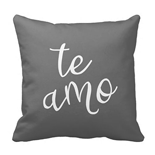 Ti amo i love you white pillowcase pillow cover