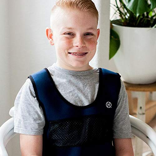 Hyperactivity Breathable Mood Processing Disorders Form-Fitting Sensory Deep Pressure Vest for Kids Weighted Vest Compression Vest Comfort for Autism