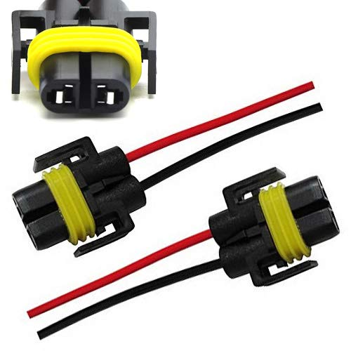 H11 SOCKET HUIQIAODS H11 880 881 Bulb Female Wire Socket Connector Plug Wiring Harness for Fog Light Daytime Running Lamps 2Pcs