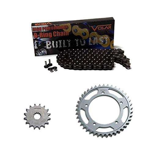 Yellow for 2006-2010 Suzuki Vstrom 1000 DL1000 Volar O-Ring Chain and Sprocket Kit