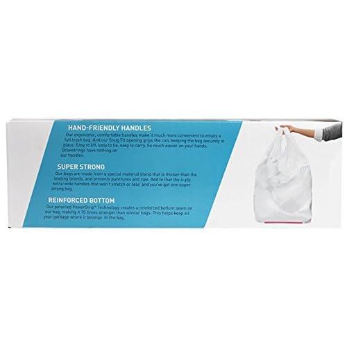 Handle Trash Bag Hippo Sak with Power Strip 270 Count 13 Gallon Tall Kitchen
