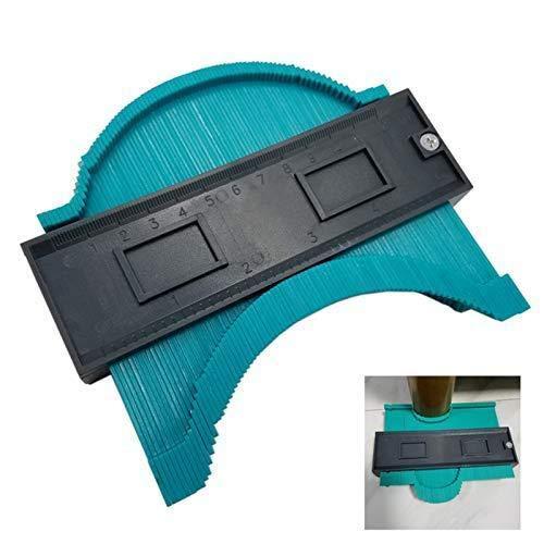 Irregular Contour Gauge Carpentry Shape Template Measuring Ruler Rail Round Frame Profile Measuring Tool Mold Remover Universal Tool for Tile Veneer 10in, Green