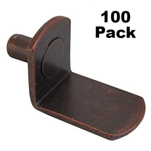 "100 Pack 1//4/"" L-Shaped Support Furniture Cabinet Closet Shelf Bracket Pegs Hole"