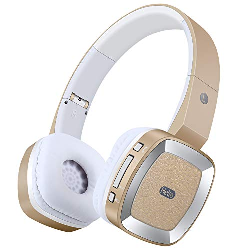 Bluetooth Headphones Over Ear With Mic Active Noise Cancelling Headphones Hd Stereo Wireless Headset With Soft Ear Pads 15h Playtime Foldable Adjustable Earphones For Kids Boys Adult Travel Work Gold Buy Products Online With Ubuy Kuwait