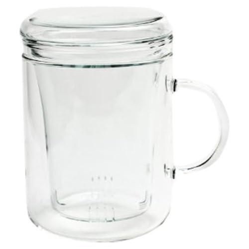 18 OZ Diffuser Mug Set for Lover Gift Teacup Brewing Strainer for Loose Leaf Tea Tea Mug Steeper Maker TEANAGOO M066-R Porcelain Tea Cup with Filter and Lid Mom Dad Women Infuser Red