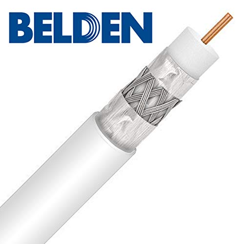 Tri-Shield 14AWG 75 Ohm Flooded RG11 Underground Coaxial Cable Direct Burial 150ft, Orange UL ETL Belden PPC Anti-Corrosion Weather Boot Connectors