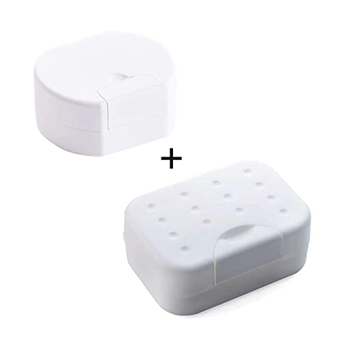 White Plastic Soap Dish with drain 1-pack New