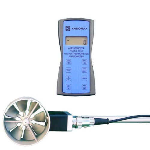 2.4 Width X 4.7 Height X 1.2 Depth Kanomax 6006-0E Anemomaster Lite Compact and Lightweight Hotwire Anemometer 41 to 104 Degrees F Operating Temperature
