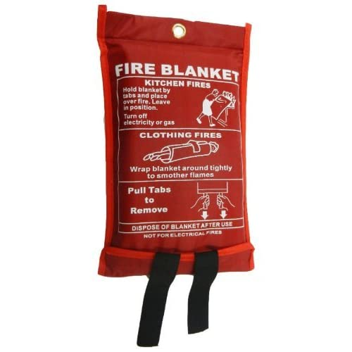 Toneeko Emergency Surival Fire Blanket Designed for Kitchen,Fireplace,Grill,Car,Camping
