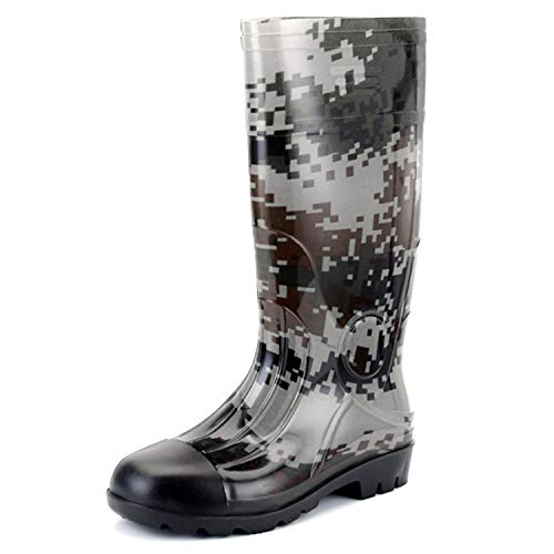 Buy JOINFREE Men's Rain Shoes Mid High Calf Rubber Garden Shoes Outdoor  Rain Footwear Work Boots Online in Kuwait. B07P1RB3MH