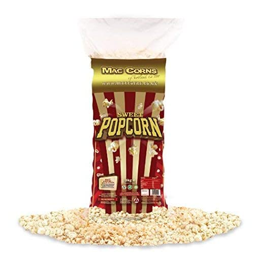 Sweet Popcorn ~ Ready Made 1kg Party Pack Scoop Traditionally Popped 24 Tubs